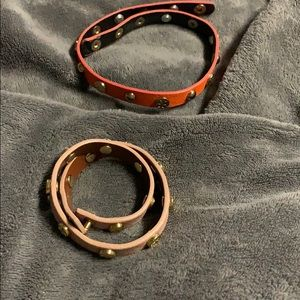 Tory Burch Leather Wrap Bracelets